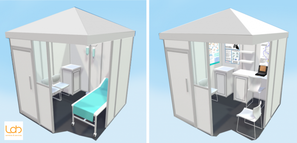 Lab Exhibits Covid-19 Response Pods Interiors