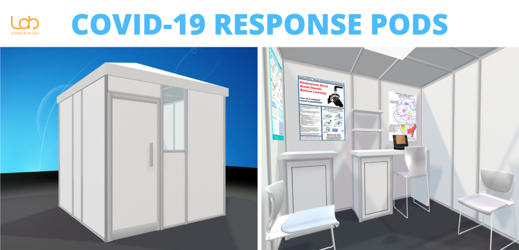 Lab exhibits & services Covid-19 Response Pods